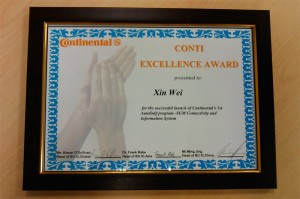 2011 Continental Excellence Award